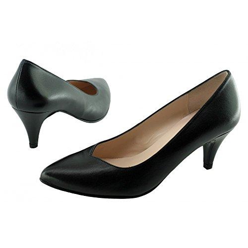 Escarpins Femme Noir Pointu Petit Talon - Karine - Yves De Beaumont ® C-Noir