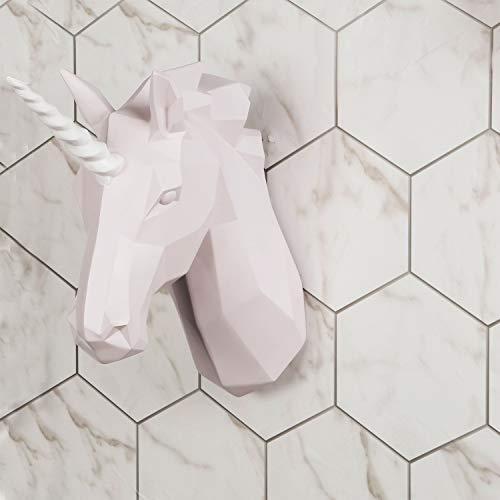 Walplus Zeitgenössisch Künstlich Taxidermie Kopf für Wand Dekor Tier Replik Dekorative Halterung Kunst Skulptur Geschenk Einhorn Wand Aufhänger