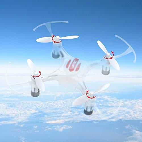 fghdfdhfdgjhh 4 Pares de Piezas Originales de hélices de Drones Hélices portátiles CW/CCW aptas para el Mini RC Quadcopter de Eachine JJR/C H8