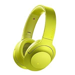 Sony MDR-100ABN High-Resolution Kopfhörer (Headset-Funktion, Noise Cancelling, Kabellos, NFC, Bluetooth, 20 Stunden Akkulaufzeit, LDAC) limonengelb