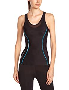 Skins A200 Racer back Women's Compression Top - Black, X-Small