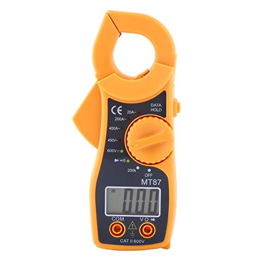 Delaman Digital Clamp Multimeter mit Data Hold Function Stromzange Pinzette AC/DC Stromspannung Tester LCD-Bildschirm Digital Clamp Multimeter Tester