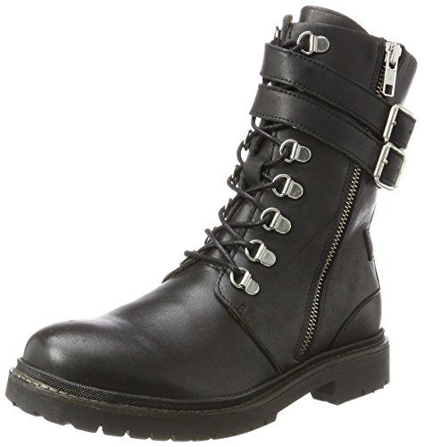 SELECTED FEMME Sfkim Military Lace Up Boot, Bottes Motardes Femme