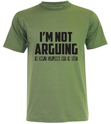 PALLAS Unisex's I'm Not Arguing I'm simply Explaining Why I'm Right T-Shirt Jungle Green