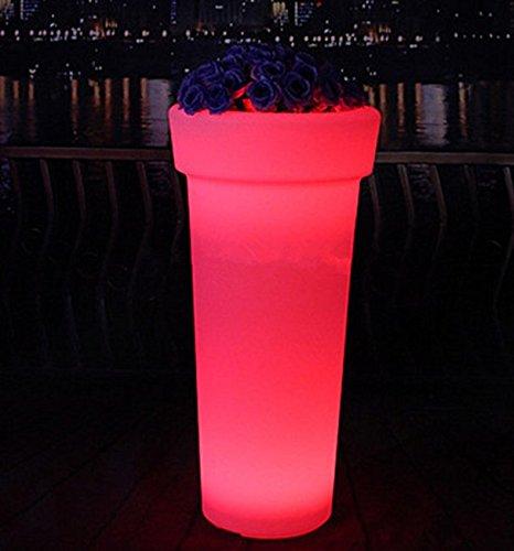 Gowe batterie rechargeable étanche Multicolore Changement LED Pot de fleurs télécommande LED Pot de fleurs d'extérieur lumineux Jardin Pots