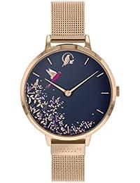 Sara Miller Chelsea Collection SA4016 - Reloj con Correa de Malla bañado en Oro Rosa