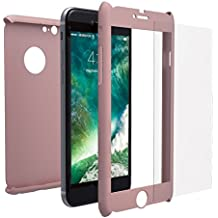 Funda iPhone 6s PLUS Integral Para Ambas Caras + Protector de Pantalla de Vidrio Templado, Mobilyos® [ 360 ° ] [ Oro Rosa ] Case / Cover / Carcasa iPhone 6s PLUS / 6