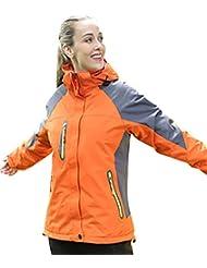 ZKOO Impermeable Cazadoras al aire libre 3 en 1 Chaqueta de Acampada y senderismo Softshell Abrigo di Esqui Cortavientos de Deportiva para Hombre Mujer