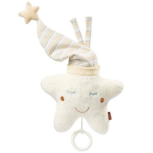Fehn 154566 Spieluhr Stern - Aufzieh-Spieluhr mit herausnehmbarem Spielwerk zum Aufhängen an Bett, Kinderwagen oder Babyschale, für Babys und Kleinkinder ab 0+ Monaten
