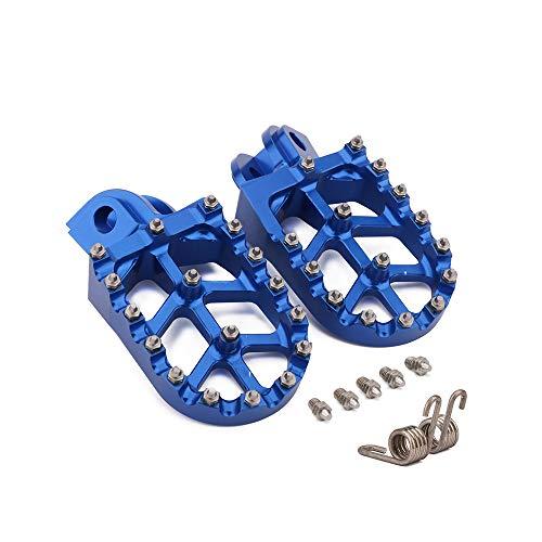 JFG RACING Fußrasten CNC Offroad Motorrad Fußrasten Dirt Bike Fußrasten Pedale für Beta X-Trainer 15-18, RR 4T 350-500 10-18, RR 2T 125-300 13-19