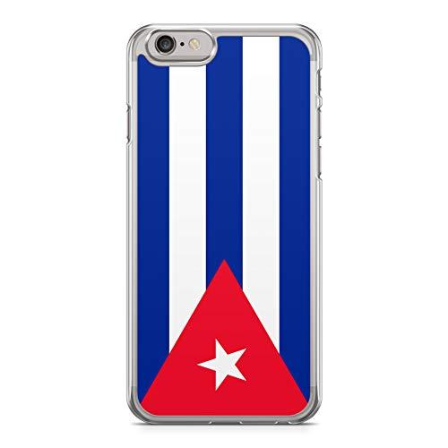0530119b099 Funda Carcasa Bandera Cuba para iPhone 7 Plus 7PLUS Silicona Transparente  TPU Flexible