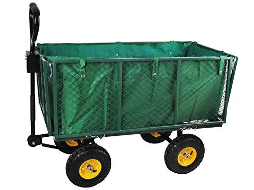 Iso Trade Gartenwagen XXL Bollerwagen 544kg 227Liter Klappbare Seiten Griff Profilräder 840