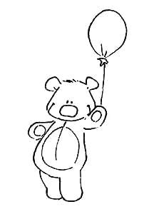 Tampon en bois - Ourson au ballon - Artémio