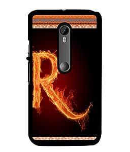 Fuson 2D Printed Alphabet R Designer back case cover for Motorola Moto G3 - D4208