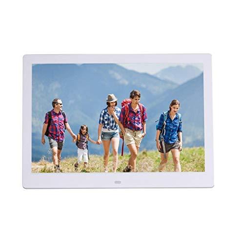 ANYU Widescreen HD-Fotorahmen, elektronisches LCD-Fotoalbum, Multifunktions-Werbespieler, ultradünn mit Sensorfunktion für den menschlichen Körper, schmale Seite 13 Zoll (Farbe: weiß), schwarz - Widescreen-hd-lcd