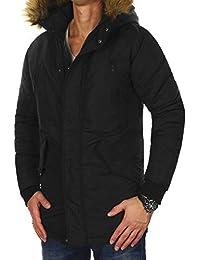 39fbf85c7976 JACK   JONES Herren Parka jcoHOLLOW Winterjacke Mantel Jacket Regular Fit  (L, Schwarz (