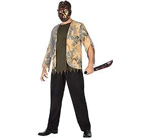 Atosa-55493 Atosa-55493-Disfraz Zombie para Hombre Adulto-Talla, Color marrón, Xl (55493
