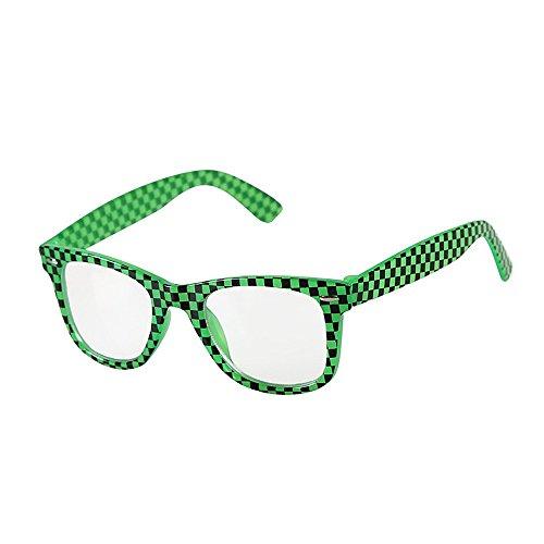 Yiph-Sunglass Sonnenbrillen Mode Kinder Sonnenbrillen Karierte Muster Sonnenbrillen Kinder Sport Sonnenbrillen Umwelt UV Schutz Kinder PC Objektiv (Farbe : Grün)