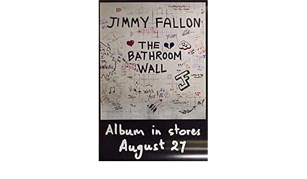 . JIMMY FALLON THE BATHROOM WALL 24 x36  Poster  Amazon co uk  Kitchen