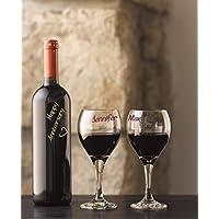 Scribly's - Confezione da 5 pennarelli per bicchieri da vino, colori vivaci, accessori divertenti, scrive su qualsiasi vetro, Si cancella facilmente, soddisfazione garantita