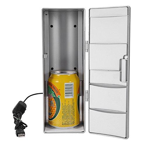 Tragbar Mini USB Kühlschrank Getränke Bier Getränkedosen Kühler Gefrierschrank Laptop PC Haus Büro Auto Hotel (Getränkedose Hat)