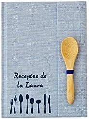 Mini Recetario personalizado con tu nombre | Cuaderno de recetas pequeño para escribir A6 | Tapa dura | Índice