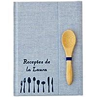 Mini Recetario personalizado con tu nombre 10x15 | PEQUEÑO cuaderno de recetas para escribir A6 | Tapa dura | Índice y páginas en español catalán euskera galego inglés | Artesanal y local