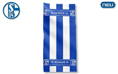 FC SCHALKE 04 DUSCHTUCH 70 x 140 CM FROTTIERTUCH FROTTIERDUSCHTUCH BADETUCH FUSSBALL FANARTIKEL
