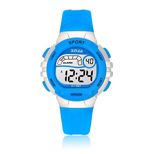Reloj Digital para Niños Niña,Chicos Chicas 50M5ATM Impermeabl Deportes al Aire Libre LED Multifuncionales...