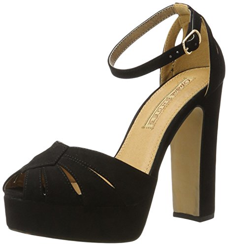 Buffalo Shoes Damen 315276 Imi Suede Bhwmd A350 Knöchelriemchen, Schwarz (Black 01), 37 EU