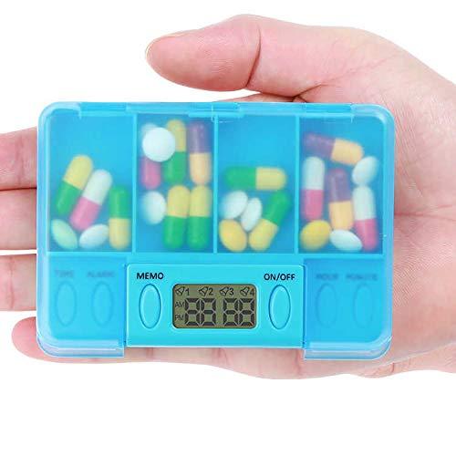 Multi-Alarm Timer Tragbare Patching Tragbare Elektronische Digital Pillaging Mit Timer Reise Piling Set Medizin Organizer Container Dispenser Organizer Piling