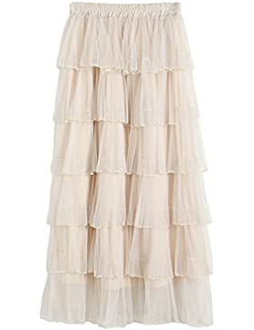 Yiiquan Mujeres Tutu Costume Dance Multi-layer Puffy Skirt Adult Soft Petticoat