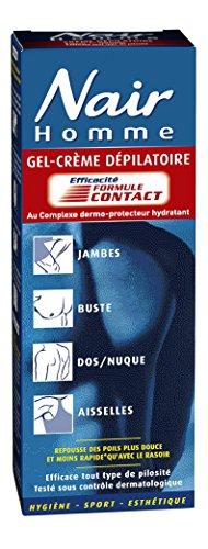 Nair - 500758 - Crème Dépilatoire - Gel-Crème Formule Contact pour Homme - Tube 200 ml + Spatule