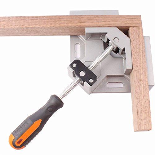 Geschweißte Aluminium-rahmen (Rokoo Einzigen Handgriff 90 Grad rechtwinklig Clamp Aluminiumlegierung geschweißt Werkzeug Holzbearbeitung Frame Clip)
