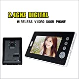 Lu Sonnette vidéo, Smart Wireless 2.4 G Signal de Transmission 7 Pouces vidéo intercom sans Fil Couleur écran intérieur et extérieur caméra sans Fil