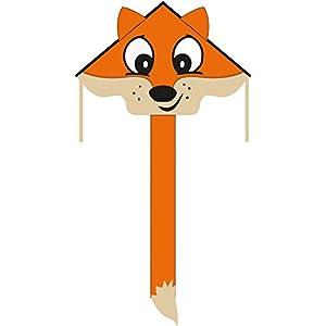Invento 102202-Ecoline simple Flyer Fox Niños Dragón einleiner, a partir de 5años, 75x 120cm y 1.5m Dragón Cola Ripstop de poliéster 2-5Beaufort