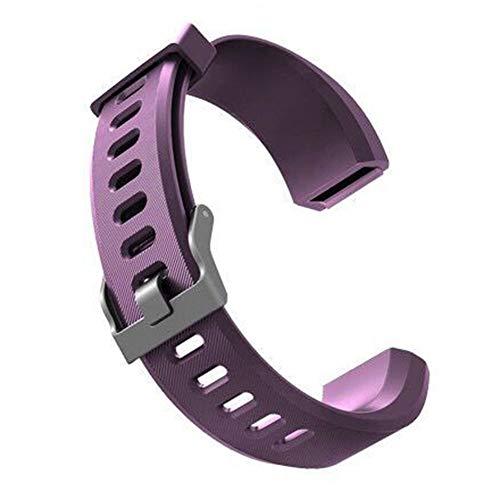 Sguan-wu Silikon Ersatz Smart Armband Band Handschlaufe für Veryfit ID115 ID115Plus - für Veryfit ID115Plus Lila