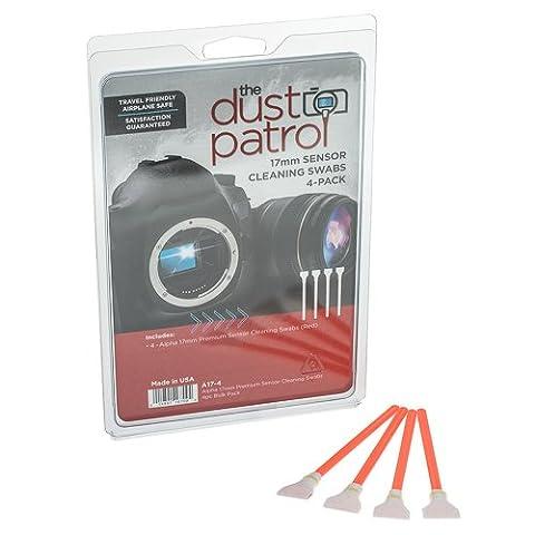 The Dust Patrol Alpha 17mm Premium Sensor-Swabs Écouvillons pour nettoyage du capteur (boîte de 4) (Rouge)