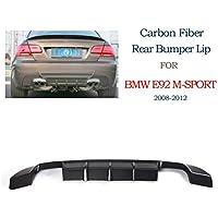 jcsportline Lip posteriore in fibra di carbonio Diffusore Spoiler per BMW E92335i M Tech Bumper 2008–2012