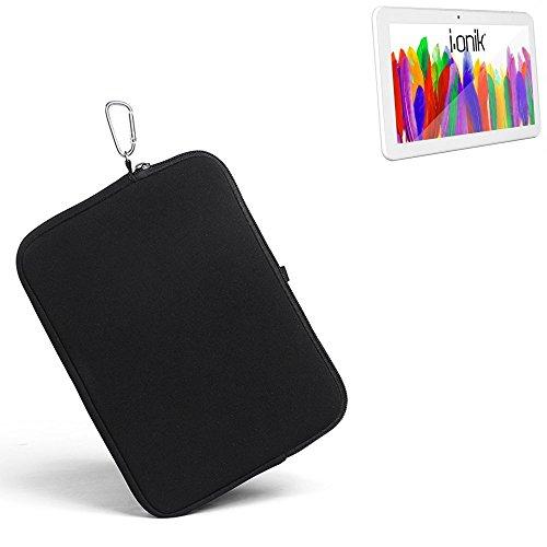 K-S-Trade® für i-onik TM3 Serie 1 10.1 Zoll Neopren Hülle Schutzhülle Neoprenhülle Tablethülle Tabletcase Tablet Schutz Gürtel Tasche Case Sleeve Business schwarz für i-onik TM3 S