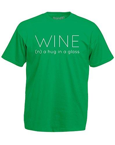 Brand88 - Wine Definition, Mann Gedruckt T-Shirt Grün/Weiß