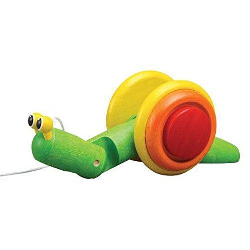 ASA Toys Jouet en bois - Jeu d'éveil - Escargot à Tirer