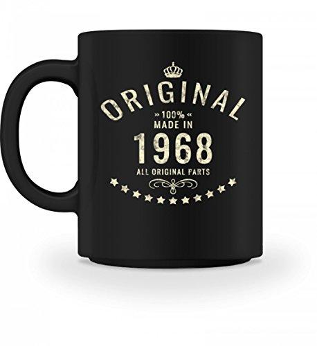 Hochwertige Tasse - Original 100{b75eda43e2a926236ce6266ab472f05efbf26d298c03b1e828372aae549b02ea} Made in 1968 - T Shirt Sprüche zum 50. Geburtstag - 1968 GEBOREN - GEBURTSTAG GESCHENK