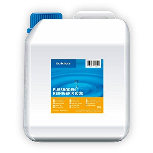 Dr Schutz Fussbodenreiniger R 1000 10 Liter Wischpflegemittel Bsis wasserlösliche Polymere für PVC-Böden, Linoleum, Reinigung und Pflege in einem Arbeitsgang, Preis pro Pack