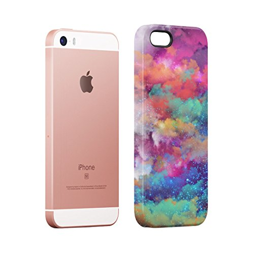 Trippy Road I Don't Do Drugs I Am Drugs Dünne Rückschale aus Hartplastik für iPhone 5 & iPhone 5s & iPhone SE Handy Hülle Schutzhülle Slim Fit Case cover Space Dust