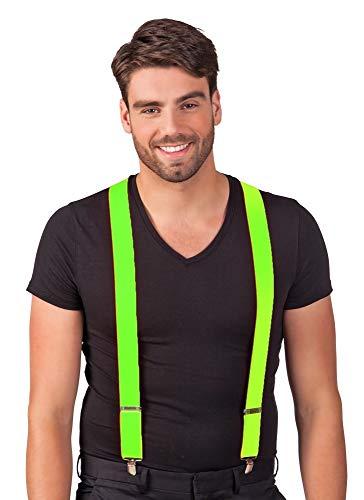 Das Kostümland Hosenträger Michel Neon Grün