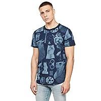G-STAR RAW heren Lash Materials Graphic Straight T-Shirt