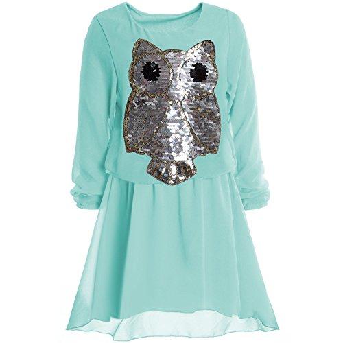 Mädchen Kinder Spitze Frühlings Kleid Peticoat Festkleid Lang Arm Kostüm 20997,...