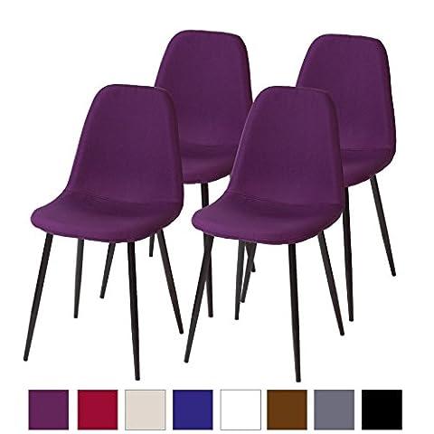 Albatros Retro Esszimmerstühle BARI – 4-er SET Lila/Violett, SGS getestet (Stühle Lila)