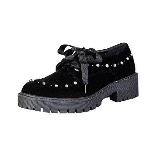 Zapatos Con Cordones Negros Laura Biagiotti 2255 Para Mujer
